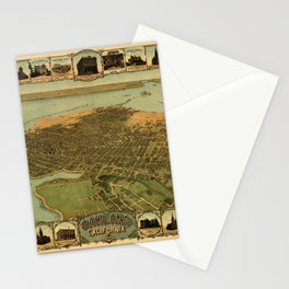 Map Of Oakland 1900 Stationery Cards