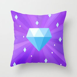 Bright Sparkling Diamond Throw Pillow