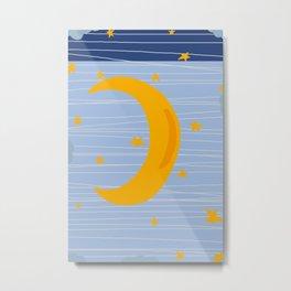 Moon in the sky Metal Print