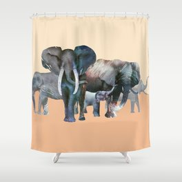 The Elefant Squad Shower Curtain