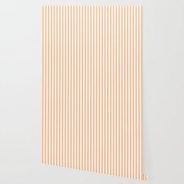 Bright Orange Russet Mattress Ticking Wide Striped Pattern - Fall Fashion 2018 Wallpaper