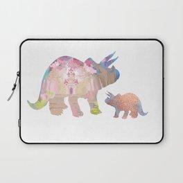 Fairytale Pink Castle Copper Glitter Dinosaur Laptop Sleeve