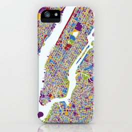 NEW YORK color map iPhone Case