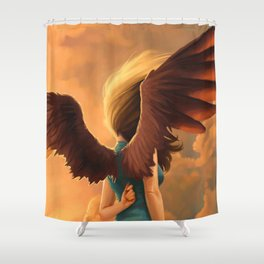 About to fall Shower Curtain