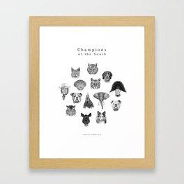 SEC Mascots Framed Art Print