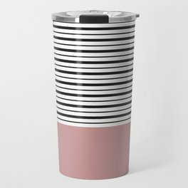 SAILOR STRIPES WITH PINK Travel Mug