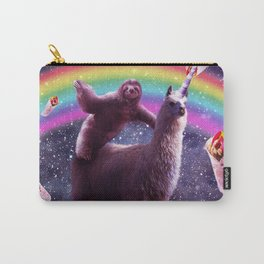 Sloth Riding Llama Carry-All Pouch
