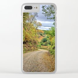 Loess Hills Gravel Clear iPhone Case