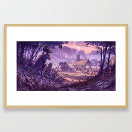 Village in the Clearing - Kylä aukealla Framed Art Print