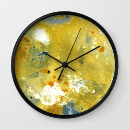 Abstract Acrylic Painting YELLOW Wall Clock