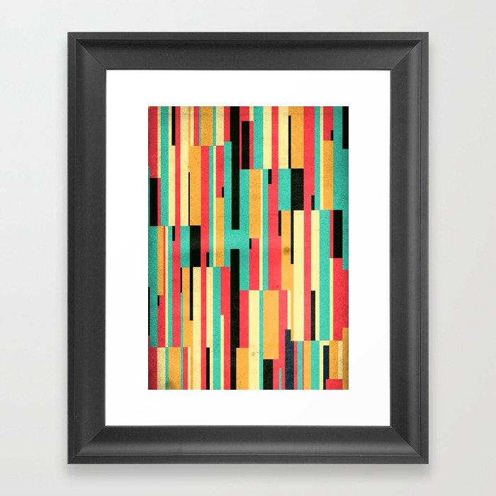 Kiko Pattern Framed Art Print