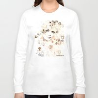 emma stone Long Sleeve T-shirts featuring Emma Stone by Rene Alberto