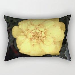 The Soft Yellow Flower (Vintage) Rectangular Pillow