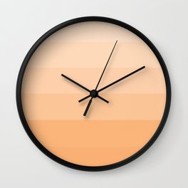 Soft Pastel Peach Hues - Color Therapy Wall Clock