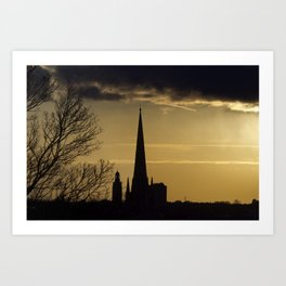 Sunset Cathedral Art Print
