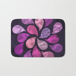 Abstract Water Drops Bath Mat