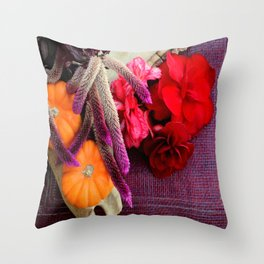 Bloody, Creepy, October-feast For The Eyes Throw Pillow