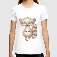 racoon T-shirts featuring Cute Racoon by Nadezhda Alkimovich
