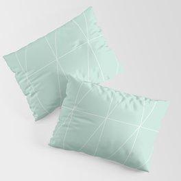 Mint Triangles by Friztin Pillow Sham
