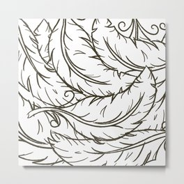 WhiteFeathers Metal Print