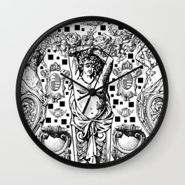 Cariatides Wall Clock