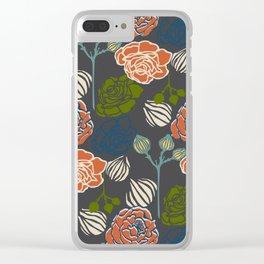 Gardenia Dark Clear iPhone Case
