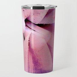 Pink Flower Abstract 2 Travel Mug