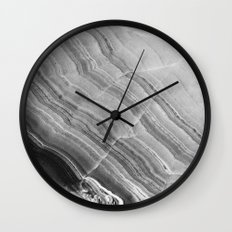 Shades of grey marble Wall Clock