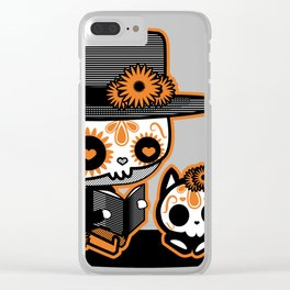 the day of dead calavera skull Clear iPhone Case