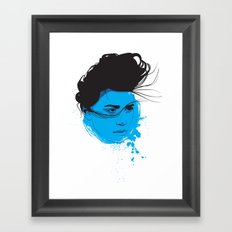 Black, blue & white I Framed Art Print