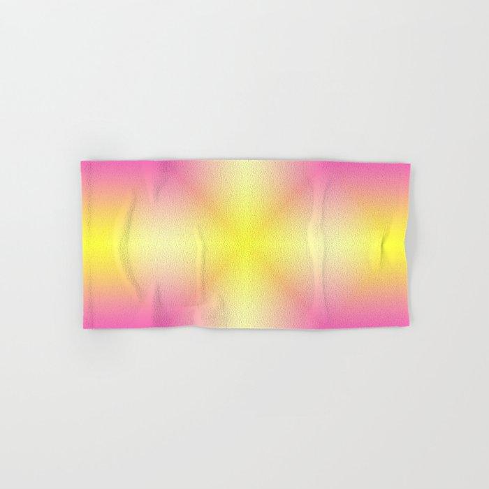 Yellow Cross Pink Star Hand & Bath Towel