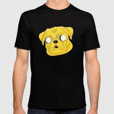 Jake the dog Black Mens Fitted Tee MEDIUM