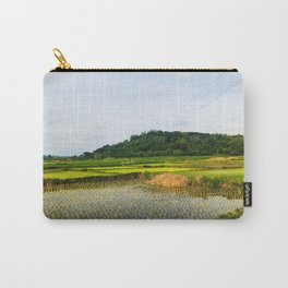 Green Rice Paddy Farm in Ilocos Sur Philippines Carry-All Pouch