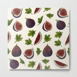 Figs and Leaves Metal Print