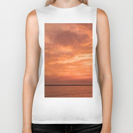 wonderful sunset Biker Tank