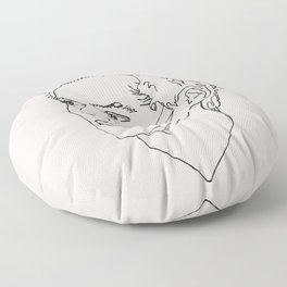 Harry Styles Drawing Floor Pillow