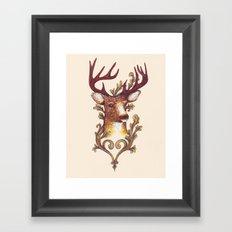 Stag Illustration 1/6 Framed Art Print