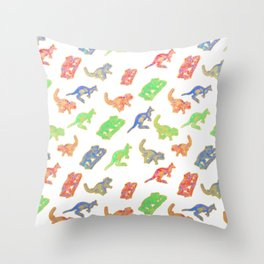Beautiful Native Australian Animal Print Throw Pillow