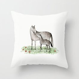 Mare & Foal Throw Pillow