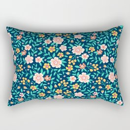 "Cute Floral pattern in the small flower. ""Ditsy print"". Rectangular Pillow"