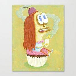 Cherry Cupcake print Canvas Print