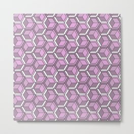 Pink and mint Metal Print
