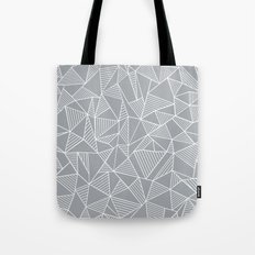 Abstraction Lines Grey Tote Bag