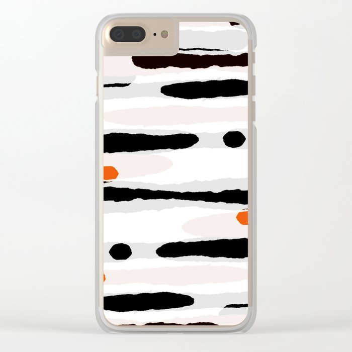 Camouflage II Clear iPhone Case