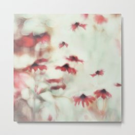 Dreamy Floral Abstract Art Metal Print