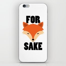 FOR FOX SAKE iPhone Skin