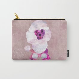 Watercolor Poodle Puppy Digital Art Carry-All Pouch