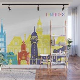 Limoges skyline pop Wall Mural