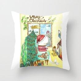 Moby's Christmas Throw Pillow