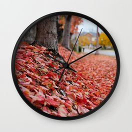 Sidewalk Fall Wall Clock